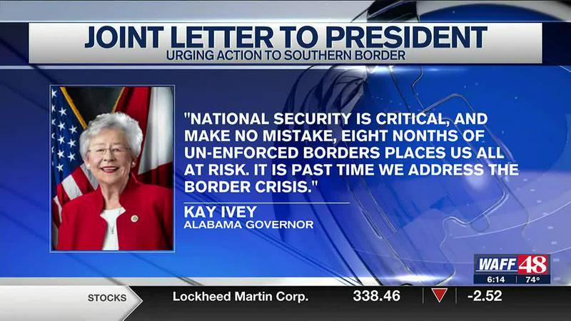 Ivey sends joint letter to President Biden