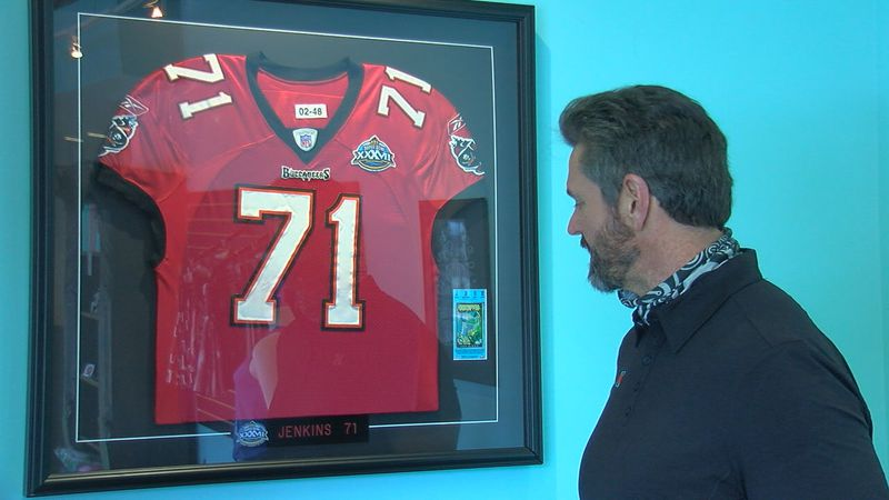 Kerry Jenkins looks at Tampa Bay Bucs jersey remembering the 2003 Super Bowl.