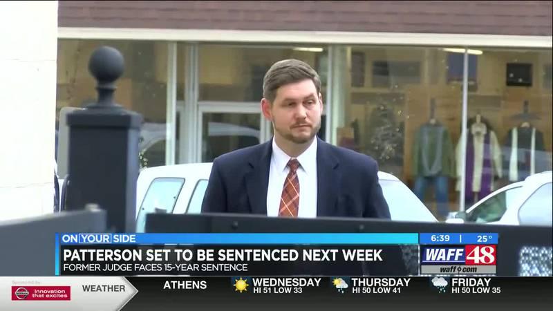Patterson set to be sentenced next week