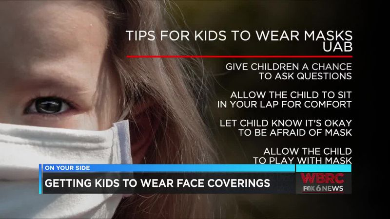 Getting kids to wear face coverings