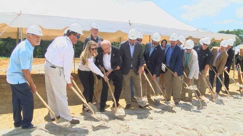 City leaders break ground on new movie theater in Albertville.