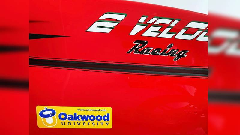 Racecar driver chooses Oakwood as HBCU to support