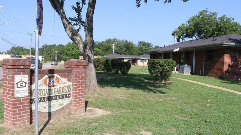 The Westgate Gardens apartment complex in Decatur is designed for low-income elderly residents....