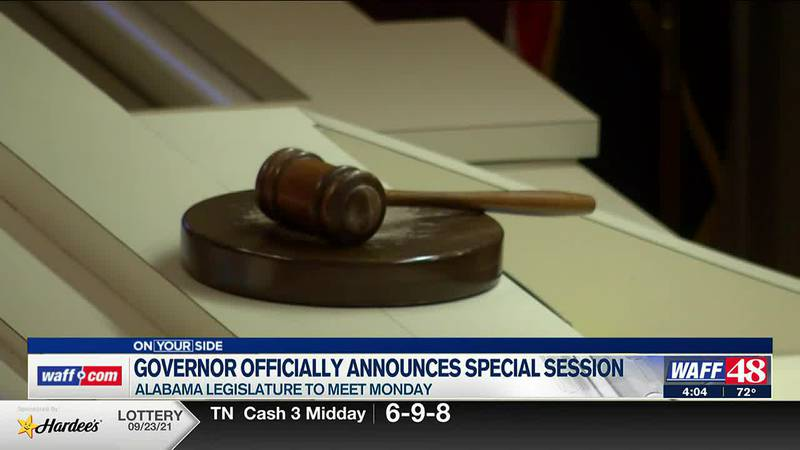 Governor officially announces special session