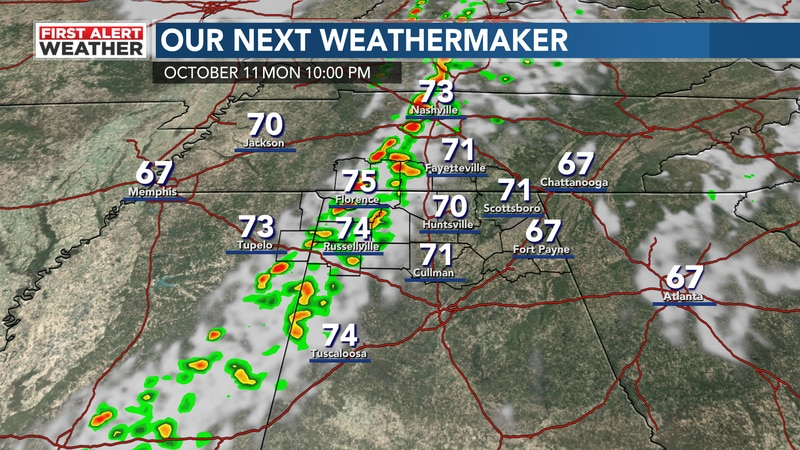 isolated storms today