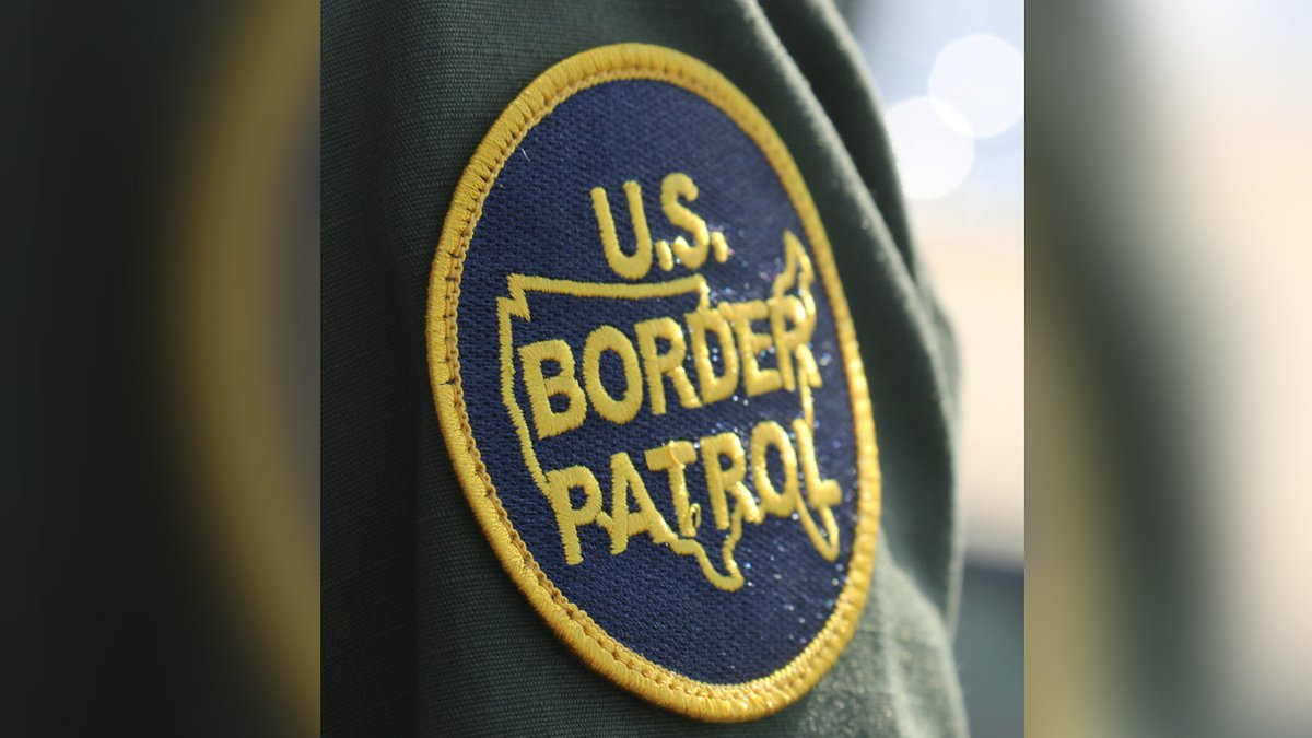 A patch is seen on the arm of an agent for the U.S. Border Patrol.