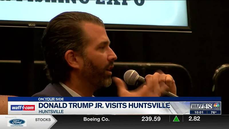 Donald Trump Jr. visits Huntsville on Saturday