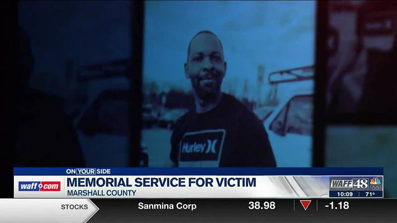 Memorial service for victim