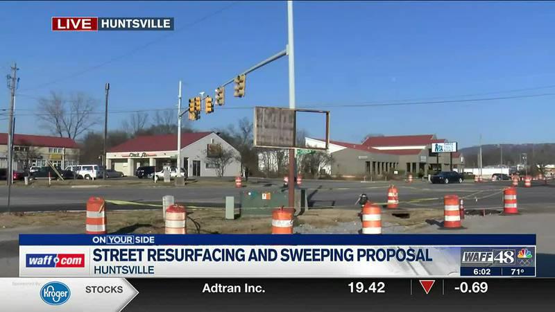 Street resurfacing and sweeping proposal
