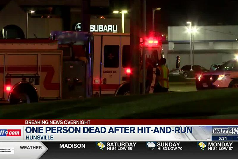 One dead after overnight hit-and-run in Huntsville