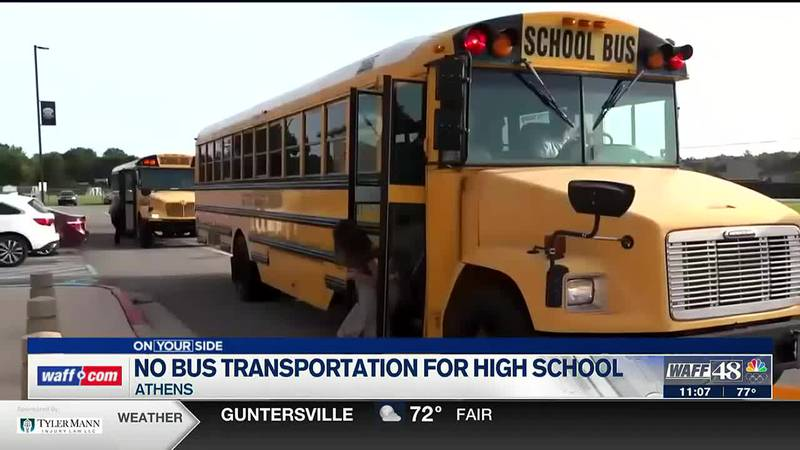 No bus transportation for high school students in Athens