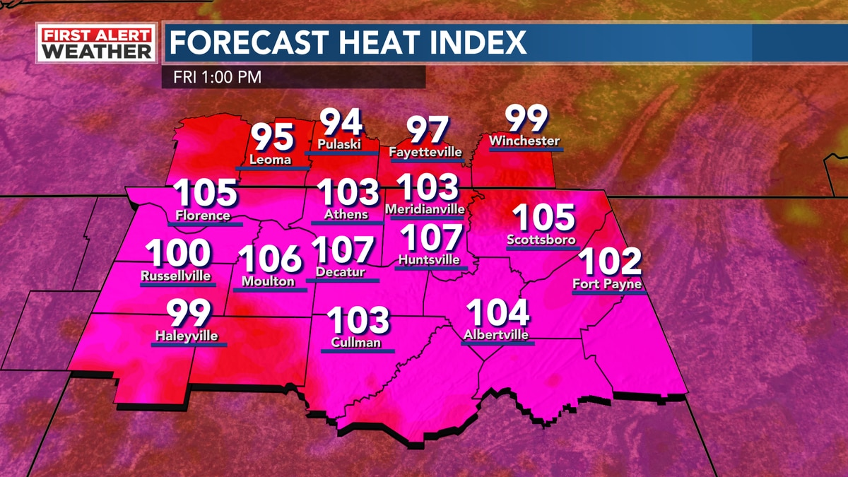 WAFF Friday Heat Index