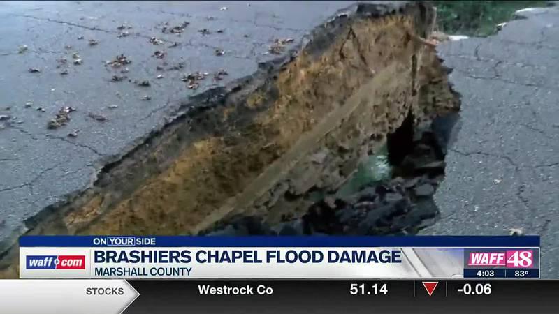 Brashiers chapel flood damage