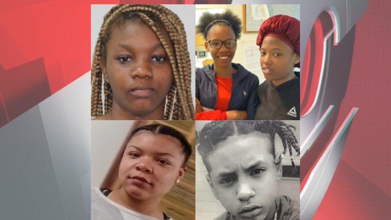 Top left corner, clockwise: Ja-Niya Scott-Lee, Leantwana Bates, Yalonda Bates, Alicia Jackson,...