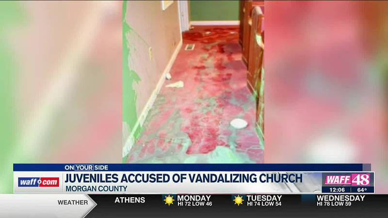 Four juveniles are in custody after deputies say they vandalized a church in Morgan County.