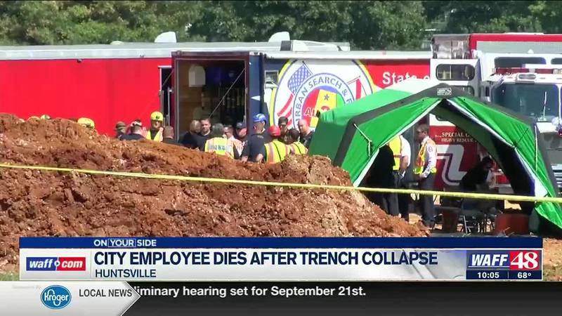 City employee dies after trench collapse in Huntsville