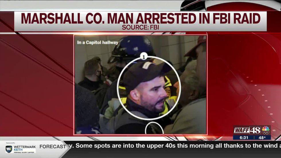6:30 a.m. update: Marshall County man arrested in FBI raid