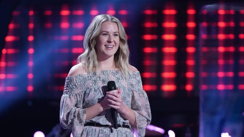"""THE VOICE  -- """"Blind Auditions"""" Episode 2003 --  Pictured: Emma Caroline -- (Photo by: Tyler..."""