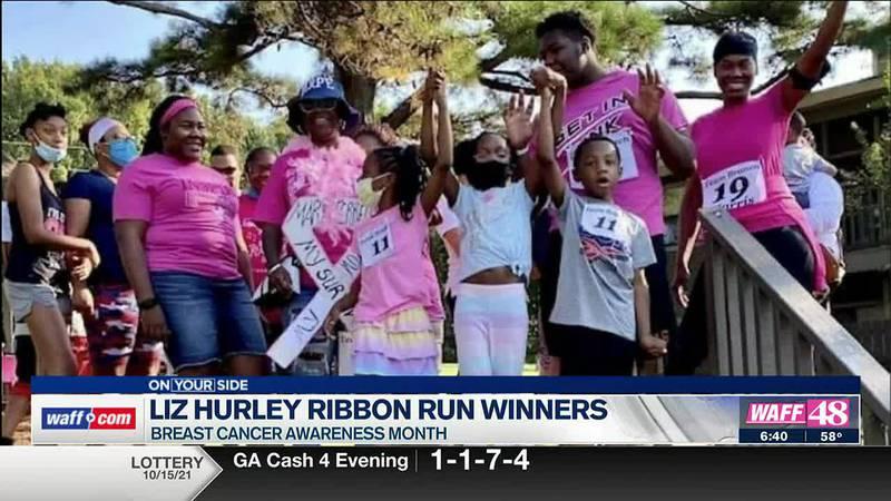 Liz Hurley announces the winners of the 2021 Liz Hurley Ribbon Run.