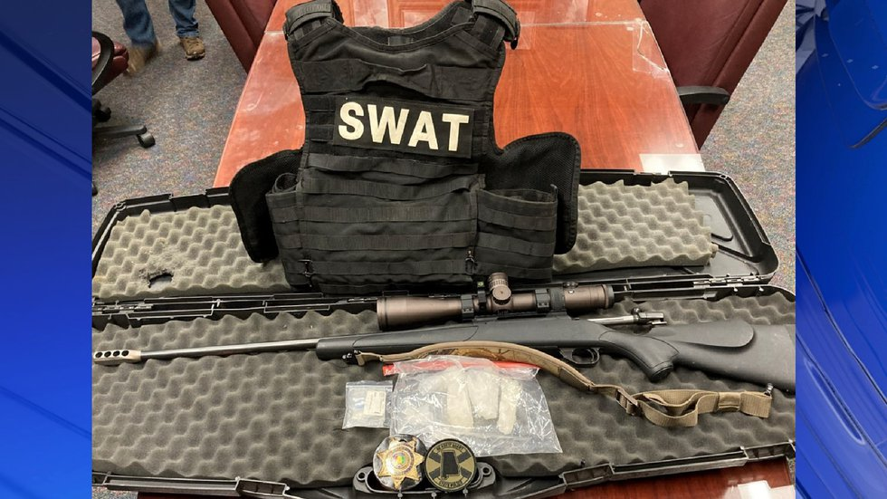 153 grams of meth, 2.6 grams of fentanyl, a plate carrier vest, and a firearm found in stolen...