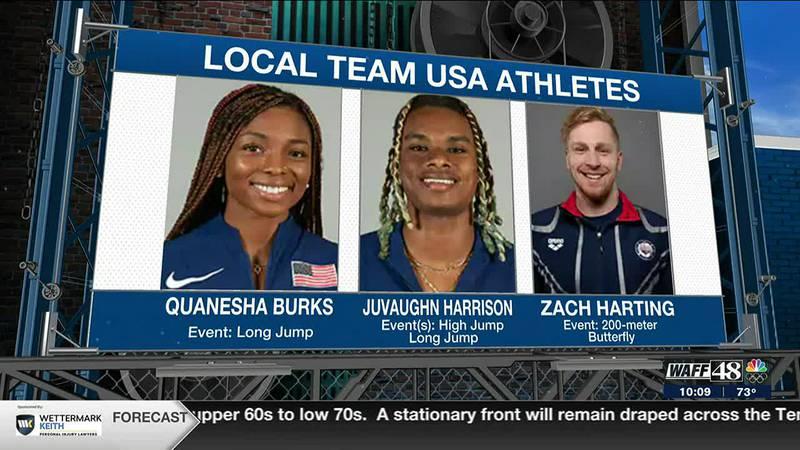 North Alabama athletes on Team USA in the 2021 Tokyo Olympics