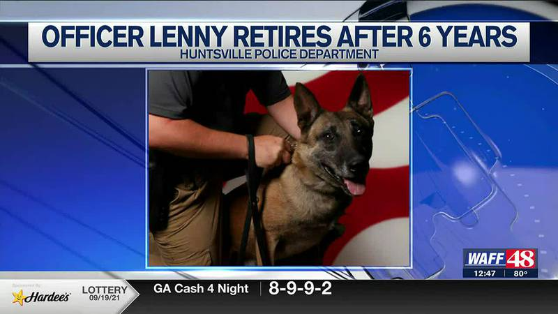 Halo is retiring from the Huntsville Police Department after more than six years on the force.