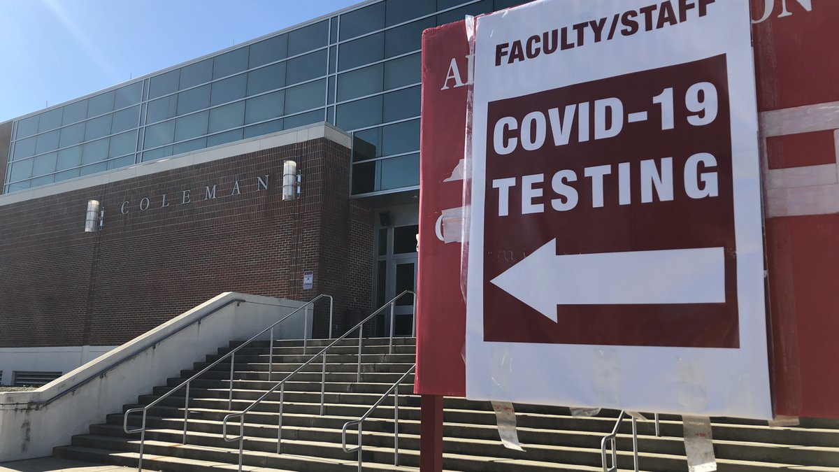 Free covid testing sign