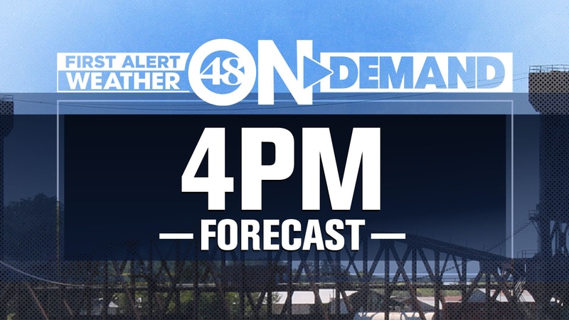 WAFF 48 Weather Forecasts at 4 p.m.