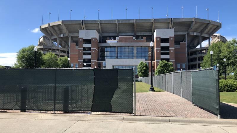 Bryant Denny Stadium on the University of Alabama campus Wednesday.