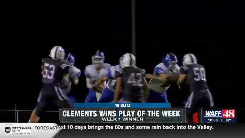 Clements wins 48 Blitz Week 2 Play of the Week