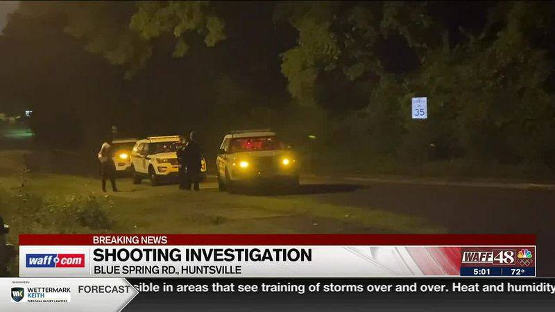 Shooting investigation on Blue Spring Road