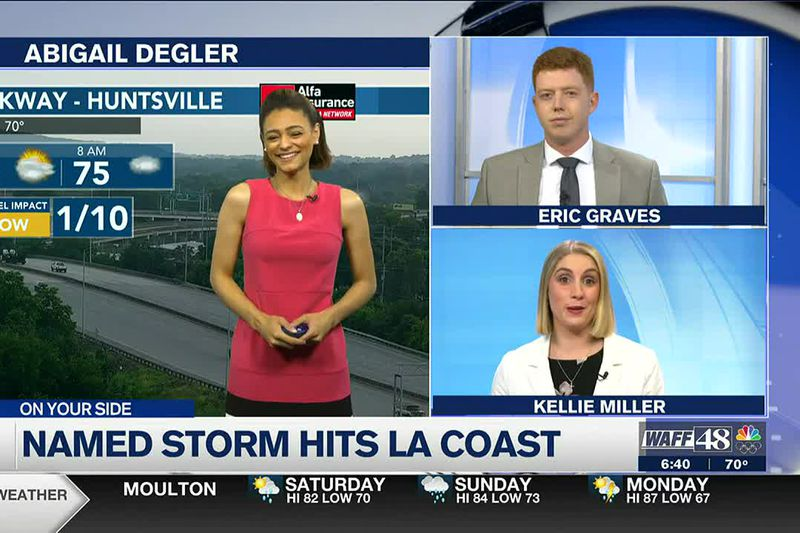 Warm & muggy in the Valley; tropical storm Claudette makes landfall off LA coast