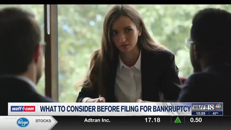 What to consider before filing for bankruptcy