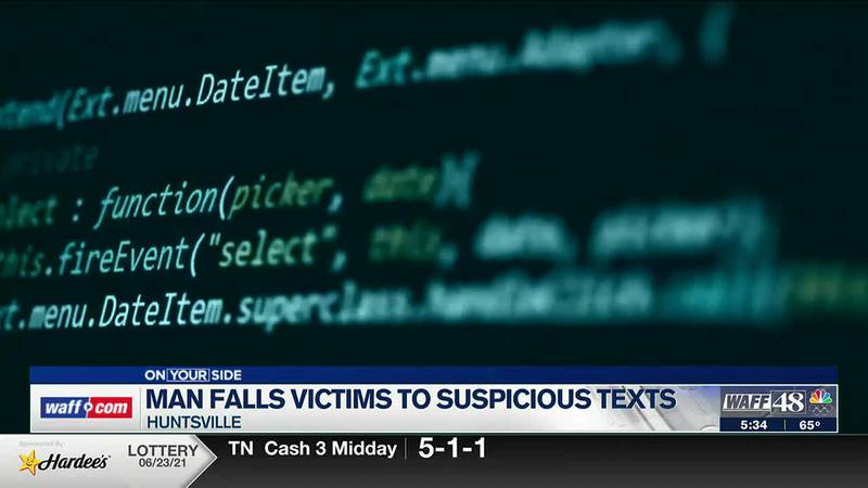 Don't fall victim to suspicious text messages