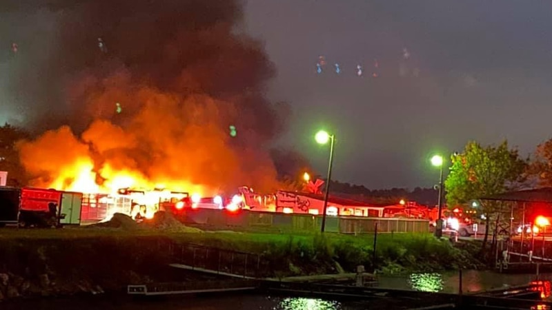 Friday morning fire near Jay's Landing in Decatur