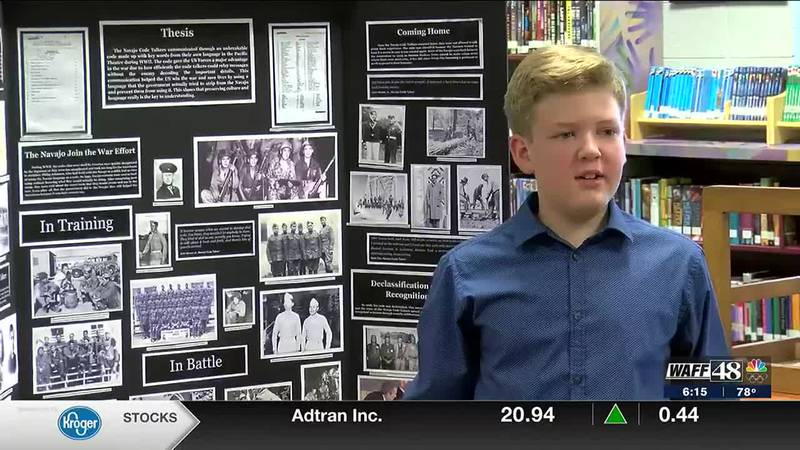 Student from Hampton Cove Middle School will have a project featured in the Smithsonian virtual...