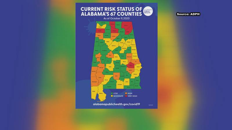 """According to the latest risk map from the state, there are more """"very high risk"""" counties for..."""