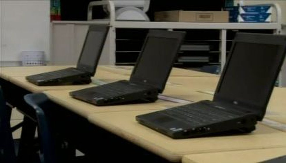 Huntsville City Schools Systems are getting laptops for digital books rather than regular...