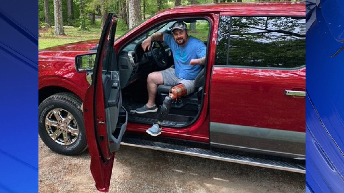 Matthew Akin presented with 2021 Ford F-150 XLT